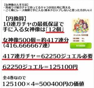 【ネタ】謎計算キタ━━(゚∀゚)━━!! アニメ円盤特典はガチャ400連分説wwww