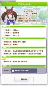 【ウマ娘】ヒシアケボノさんの身長と足のサイズはこうなる!? ← デカすぎか!
